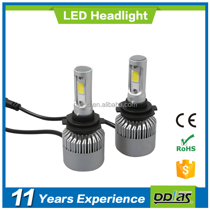 super bright car accessories car h7 led headlight xenon car bulbs 4000lm 36W F10 H4 led headlight h7