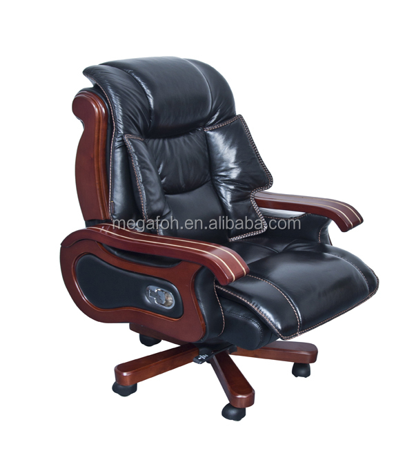 Top quality luxury executive furniture president office leather chairs with wheels(FOH-1135)