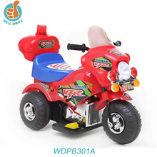 Classic cheap mini electric 3-wheel motorcycle car for kids with pedal and light WDPB301A