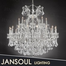 chic fancy egyptian house party hall decorative stainless steel pendant light crystal chandelier