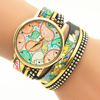 Women's Watches Casual Leather Korean Crystal Rivet Bracelet Watch Girls Ladies Watches BWL181