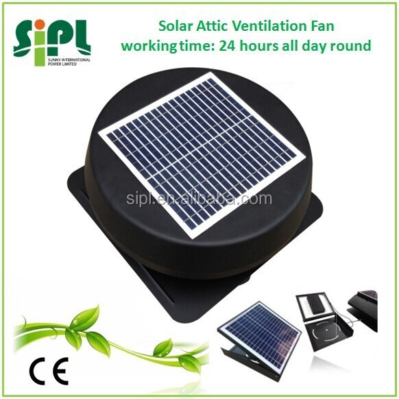 Solar vent 12 inch axial attic fan with brushless DC Motor solar radiator