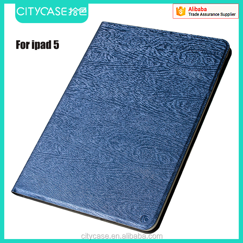 city&case wood grain fabric leather case for ipad air 5