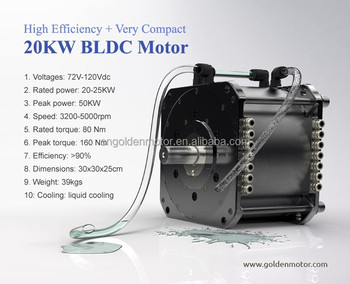 High efficiency ev motor 20kw electric car conversion kit for Electric outboard motor conversion