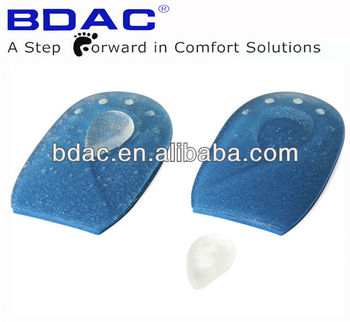 sticky adjustable foot heel pain relief gel heel cushion pads