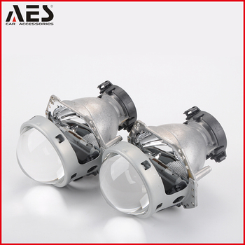 "AES high performance metal material 3"" size lens, car headlight hid bi-xenon He-5 projector lens"
