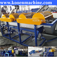 plastic cleaning machine for recycling pe pp film pet bottle