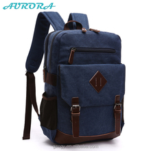 Alibaba wholesale Vintage canvas laptop backpack Canvas Backpack
