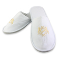 Eco-friendly Four Season Embroidered Hotel Slippers