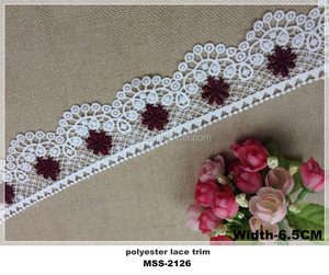 New Fashion Design White Color Chemical Embroidery Crochet Lace Trim