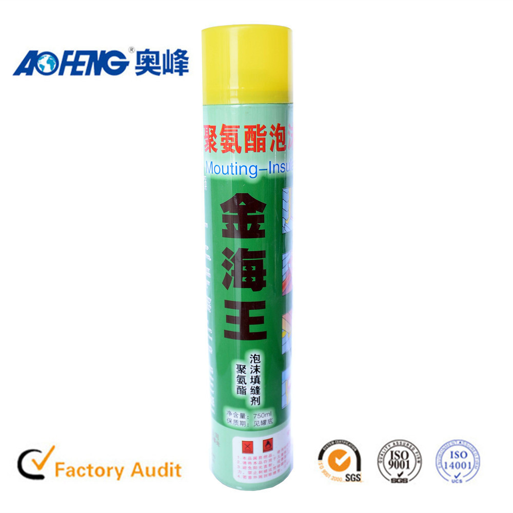 China Famous Brand Waterproof Aerosol Expanding Foam Sealant Polyurethane Spray Foam Expanding Polyurethane Rubber Sealant