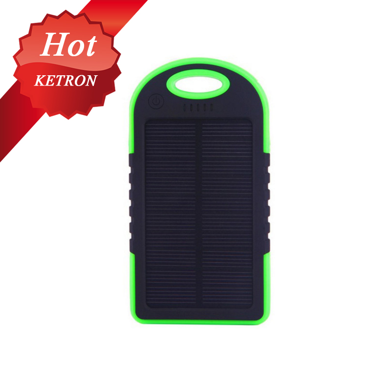 power bank solar 5000mAh 2 in 1 solar panel charger