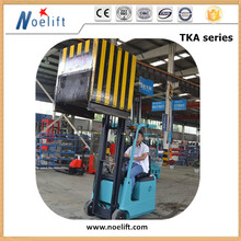 Material Handling UK 3 wheel lifts electric fork lift for steel structure warehouse