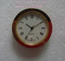 White Dial Arabic Numbers Brass Bezel 36mm clock insert watch insert