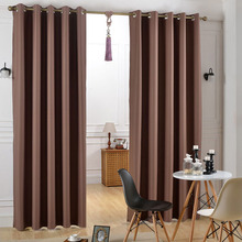 Blackout coffee home design curtains,window curtain designs