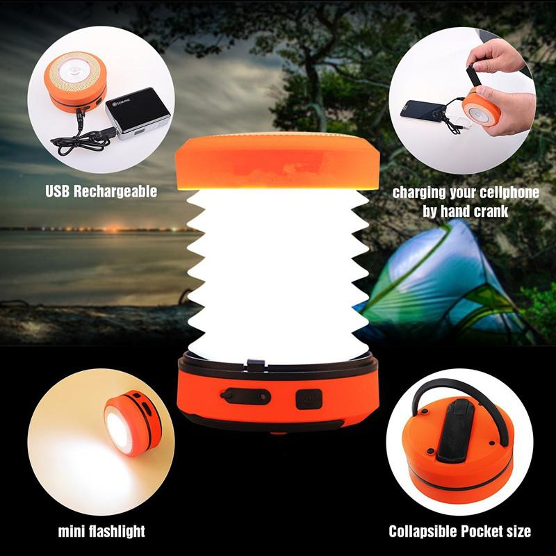 Pocket Light Collapsible LED Solar Camping Lantern Solar LED USB Charging Lanterns