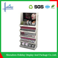 lipstick display stand lighting makeup case with stand