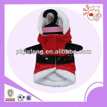 plush christmas pet clothes