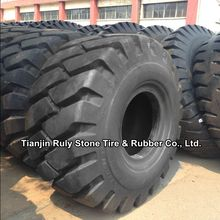 Chinese tires brands is Tianli for loaders tyre E-4 L-4 series 23.5-25 deep tread pattern design