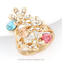 2014 Fashion Shining Diamond Ring Wedding Ring with Flower Size at 25mm for women