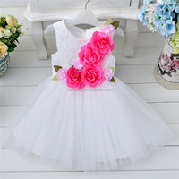 2016 summer girl white angel dresses for kids