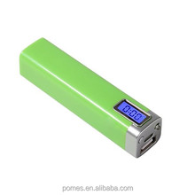 2014 LCD screen display power bank charger with LED flashlight,2600mah
