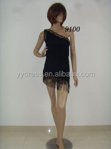 Ballroom Dancing Wear Tassels Costumes Girl Latin Dance Dresses