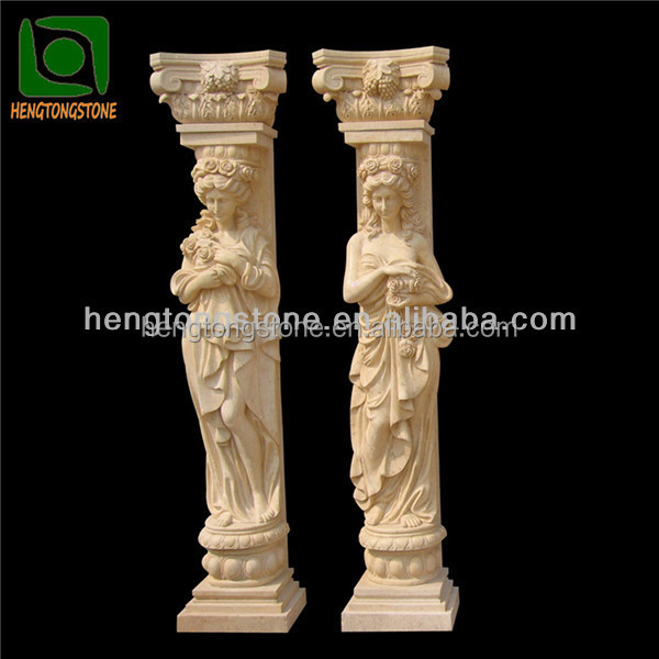 Beautiful Beige Marble Columns for Sale