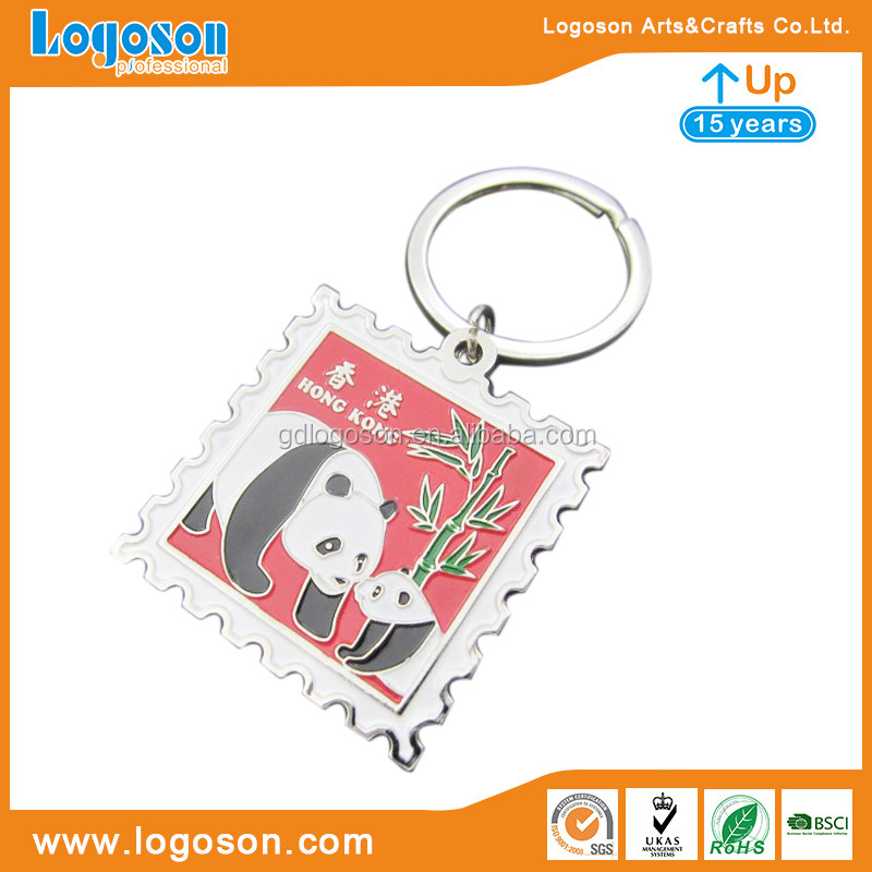 Cheap Price Wholesale Souvenir Personalised Photo Keyrings Metal Stamp with Keychain Custom Stamp Keyring