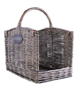 Log rectangle handle wick basket fo BBQ Log container