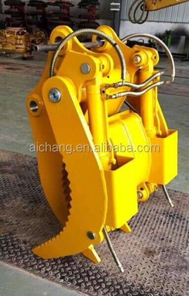 Excavator mechanical log grapple, Wooden and Stone Grapple for sale