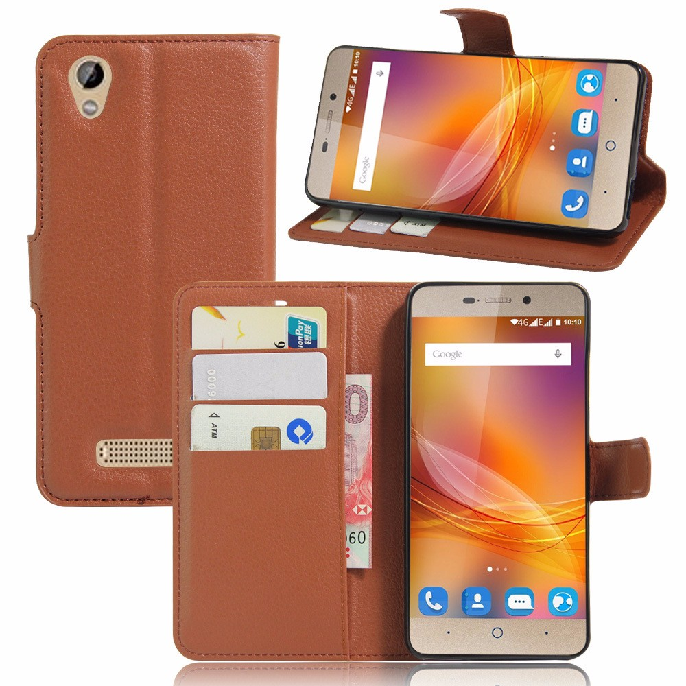 oem leather cell phone cover case for zte blade a452