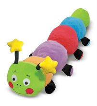 Babies' colourful plush caterpillar