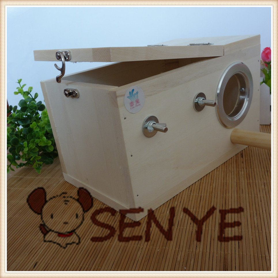 Reproduce solid wooden parrot nest pet breeding birds breeding box