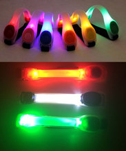 Hot Sale Bicycle Riding Saftey Protect Led Arm Band Silicone Bike Light