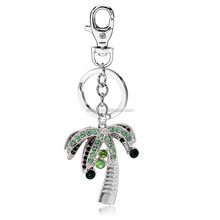 Promotional gift keychain wholesale, crystal diamond palm tree keychain