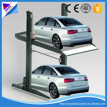 Two layers car parking lift double column garage equipment simple parking system