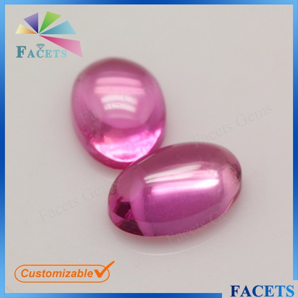 Synthetic Corundum Suppliers Oval Cabochon Rough Ruby Stone Price in Pakistan Hot Selling