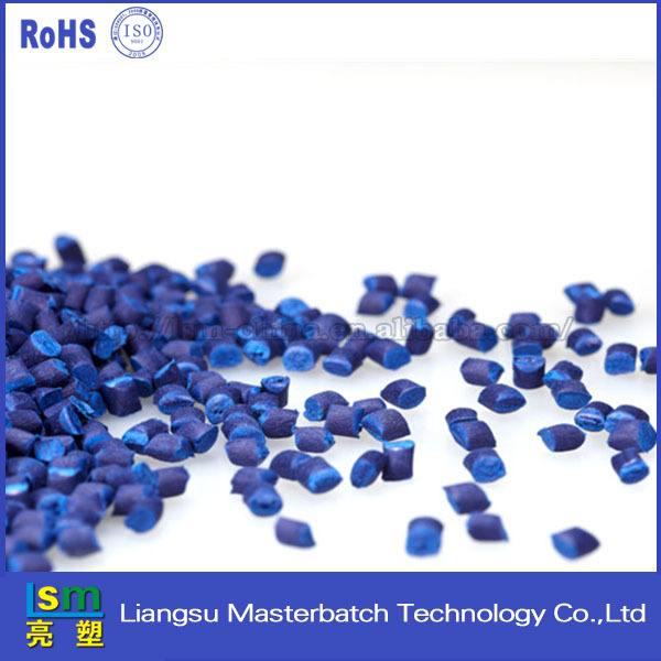 pet/pp/abs granules fire retardant masterbatch blue for injection moulding blowing film