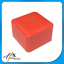recycled fancy paper covered plastic watch box with customer logo