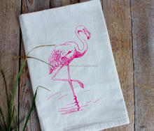 wholesale organic cotton flour sack printed dish tea towels