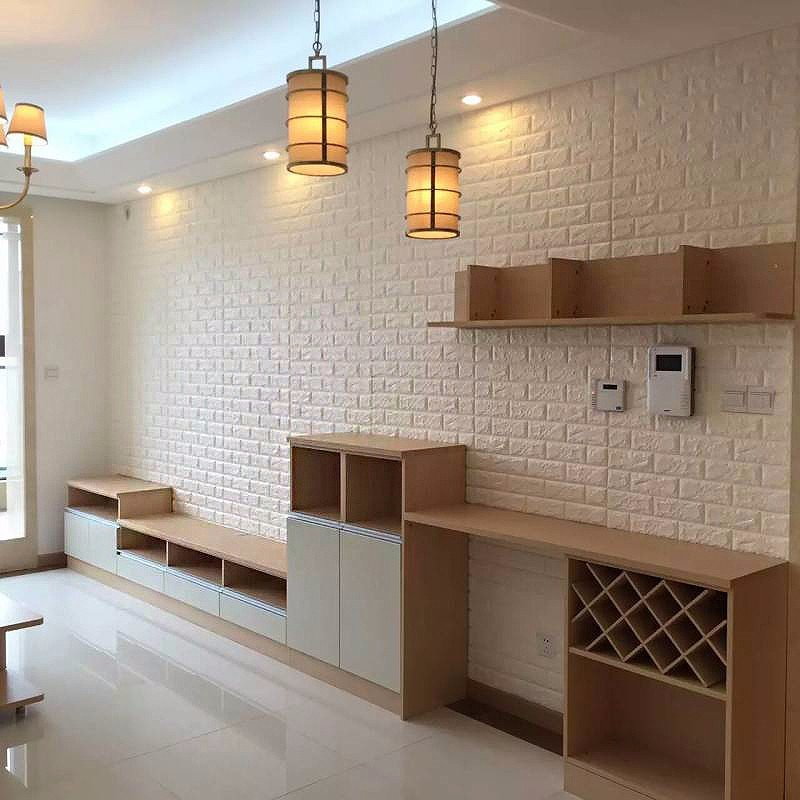 High Quality New Design self adhesive 3d brick sticker home Decorative