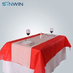 Custom 6Ft Disposable Dining Table Cover Sheet Wedding