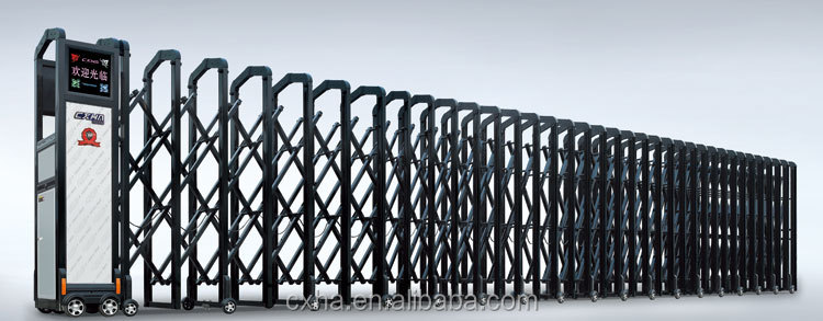 Industrial Retractable Gates : Industrial motorized retractable safety gate buy