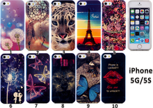 IMD Blue Light TPU Custom Cell Phone Case For iPhone 5 5s