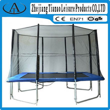 rectangular trampoline outdoor with safety pole pads for garden games