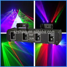 Newest DMX multi colors RGBP 4 heads Disco laser show system