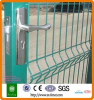 ISO9001 Green metal yard security gate
