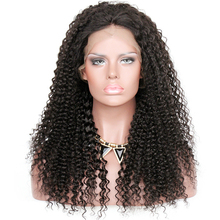 20 inch 1B# kinky curl cuticle aligned hair virgin full lace wig natural hairline