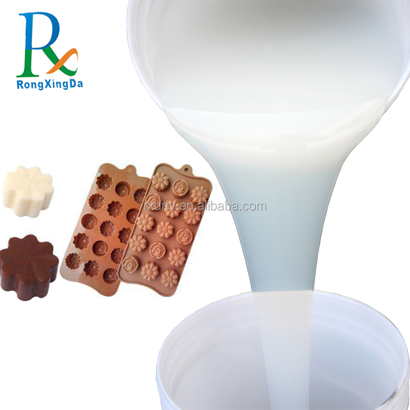 2018 Quality assurance liquid food grade silicone rubber use for making chocolate cake mould
